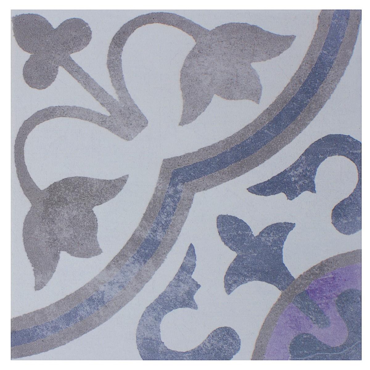 Плитка наcтенная Rustica 20x20 см 1 м2 цвет серый/синий