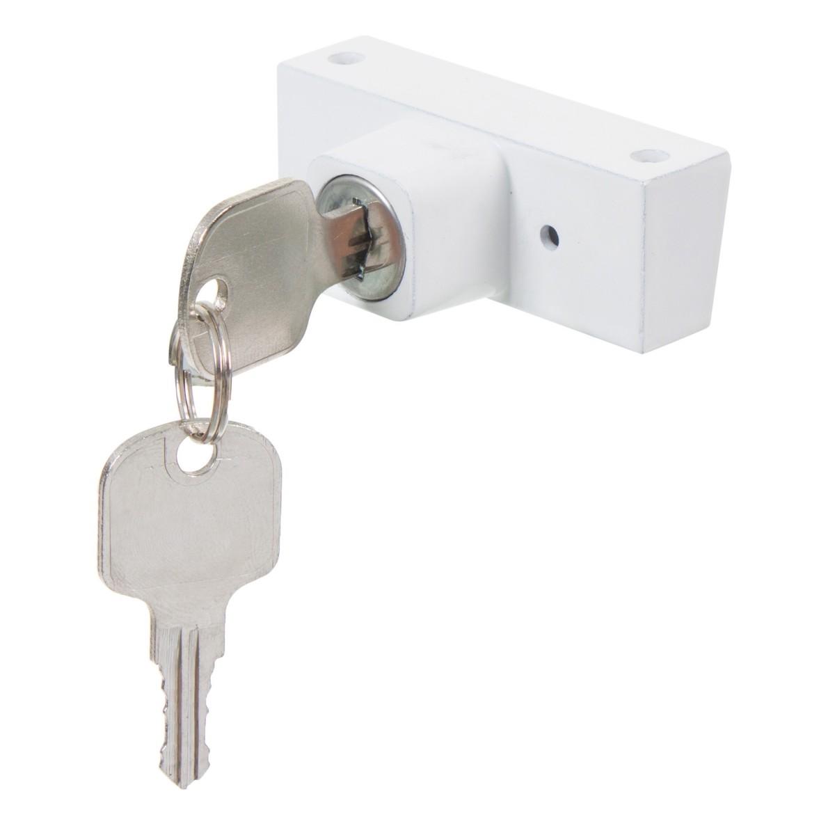 Замок-блокиратор для окна с цилиндром 2 ключа
