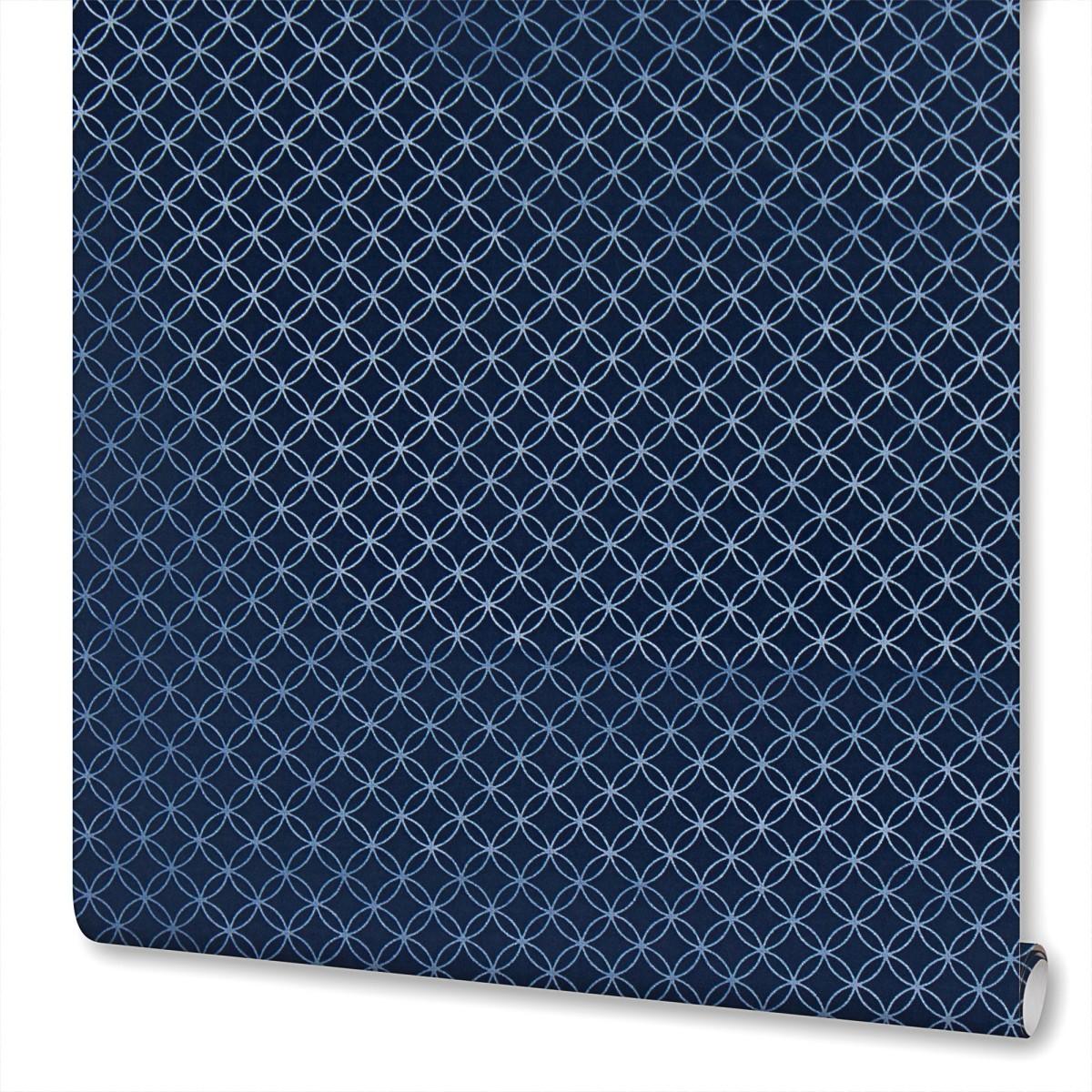 Обои флизелиновые Rasch Selection Relief Vlies синие 0.53 м 701753
