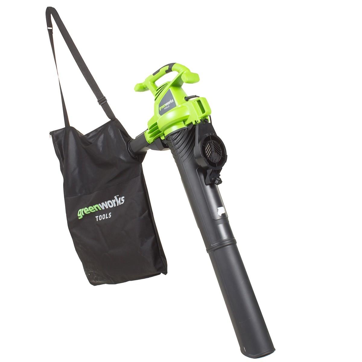 Пылесос-воздуходувка садовый электрический Greenworks 2800 Вт