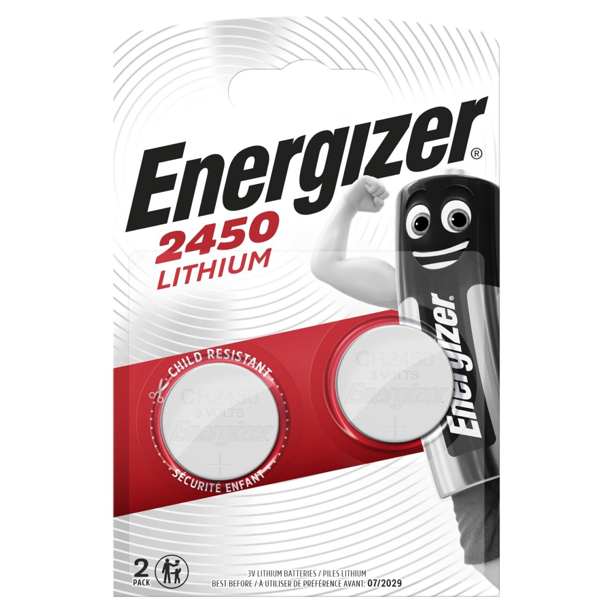 Батарейка литиевая Energizer CR2450 2 шт.