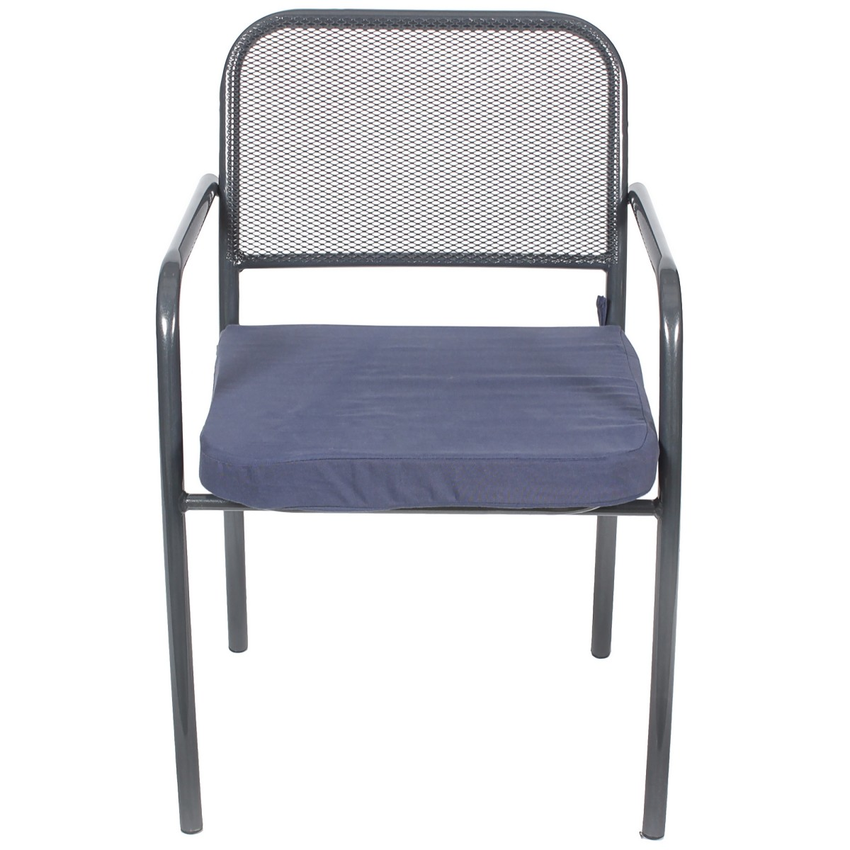 Кресло Садовое Романс 63Х54Х92 Металл Черный/Синий