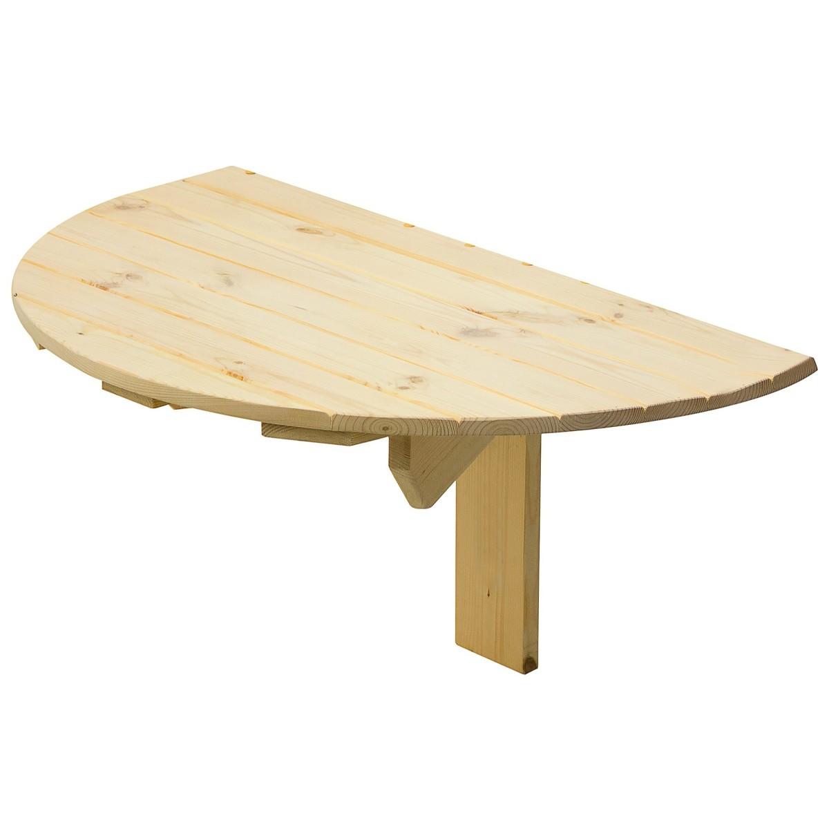 Стол навесной пристенный откидывающийся полукруглый 80x50x42 см
