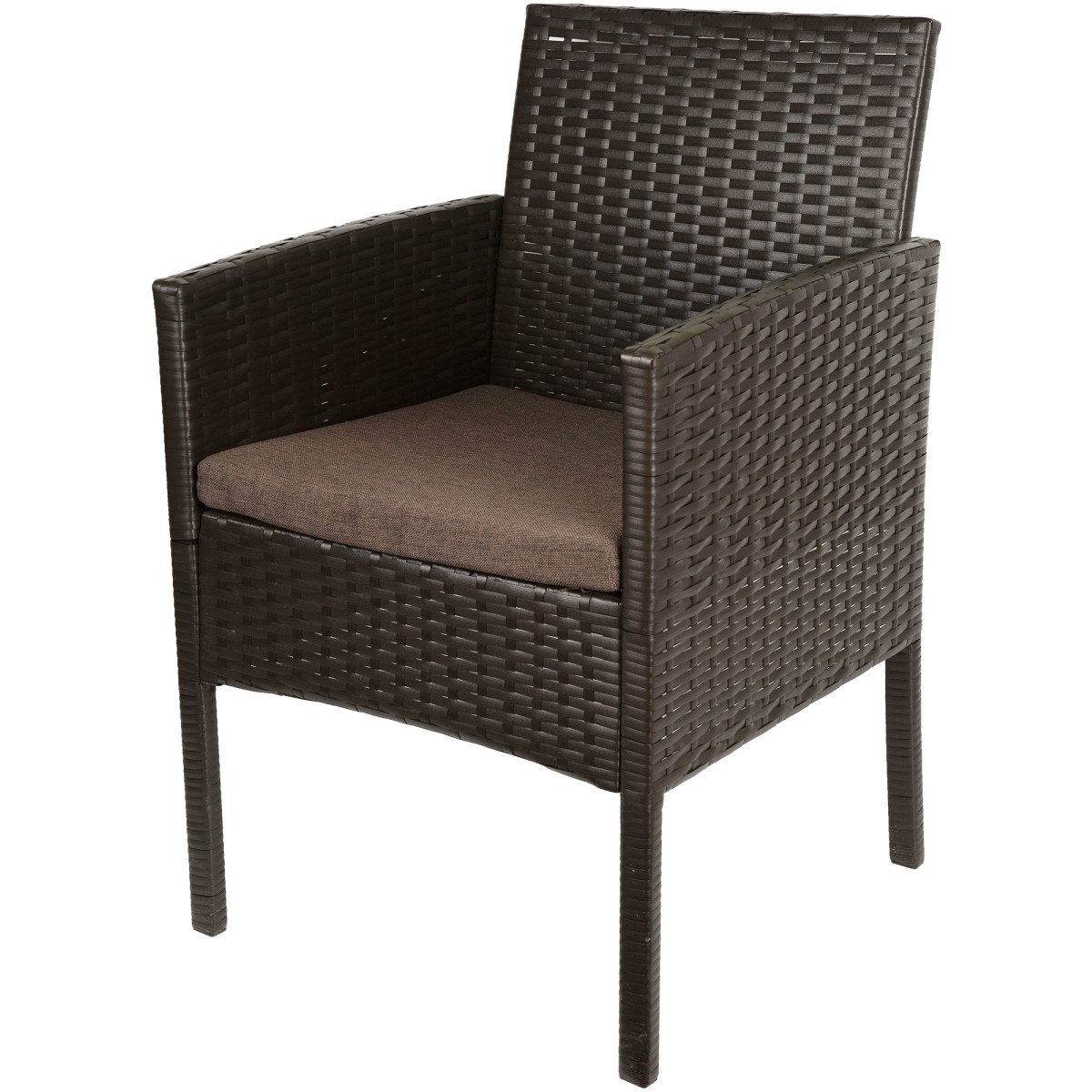 Кресло садовое Кения 60х57х92 см полиротанг коричневый