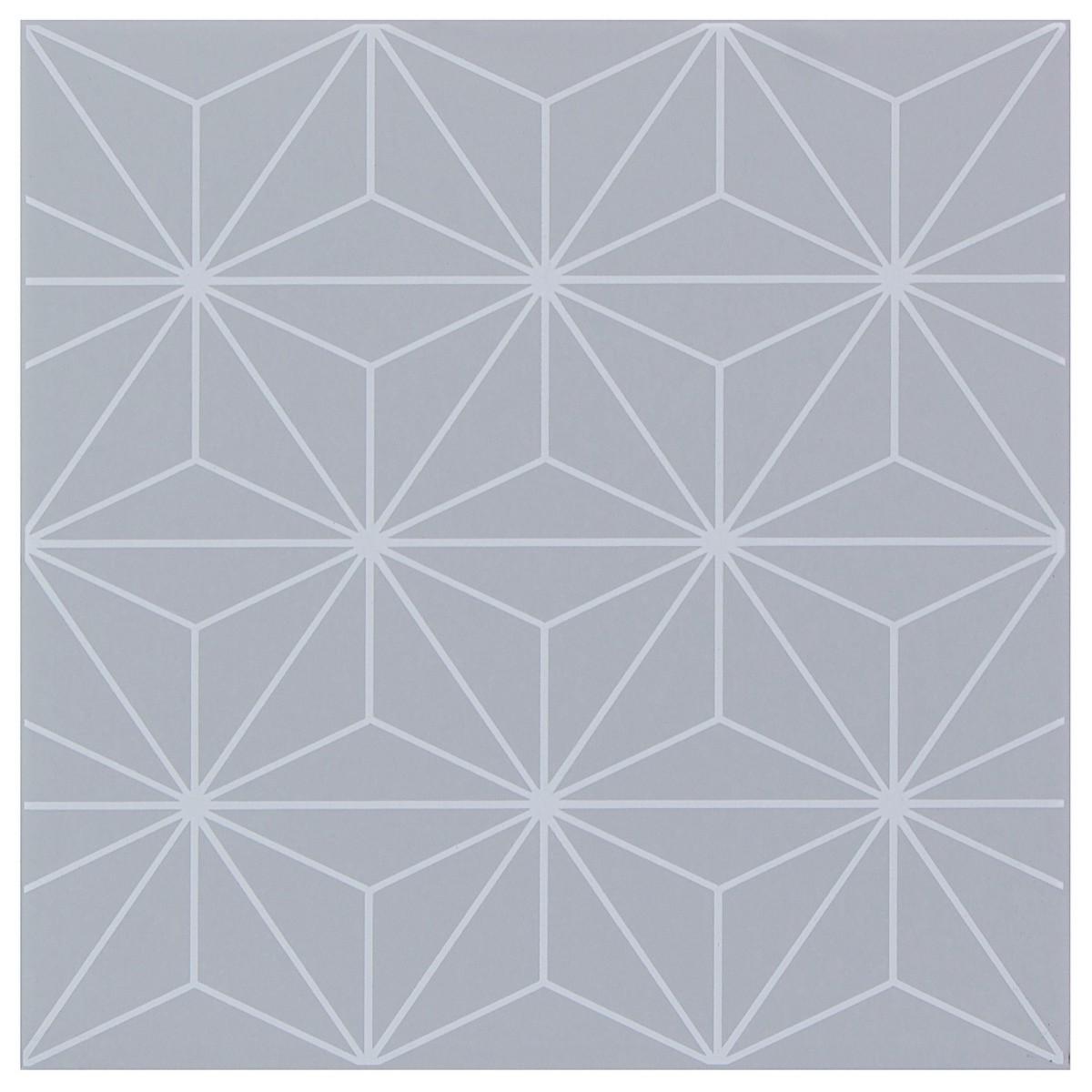 Декор «Калейдоскоп» 20х20 см цвет серый
