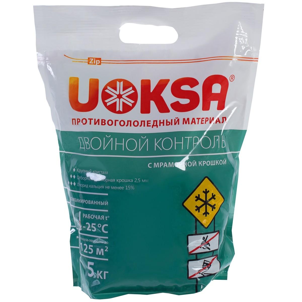 Противогололедный UOKSA ДвойнойКонтроль 5 кг.