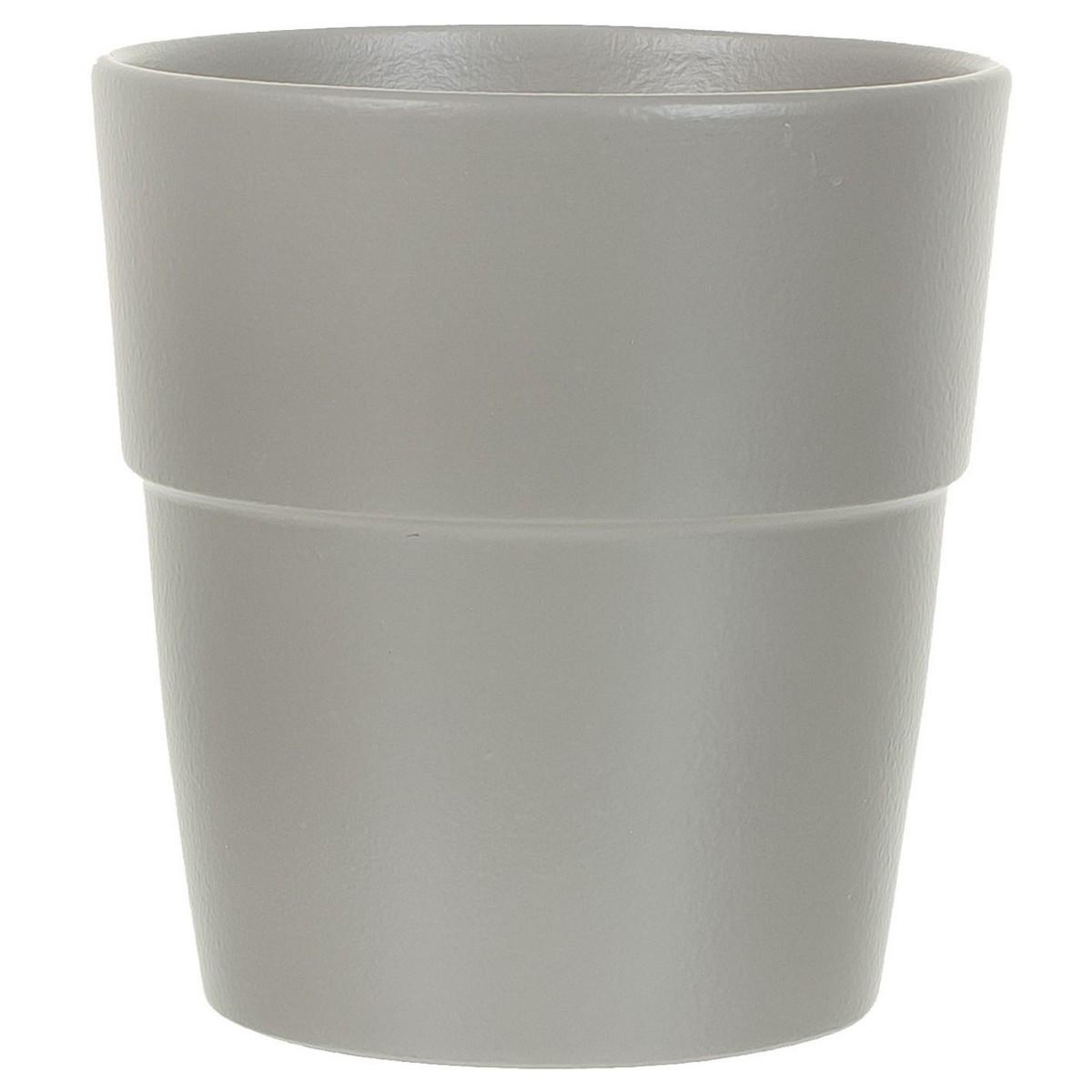 Кашпо цветочное «Грей» D18 2 9л. керамика Серый / Серебристый