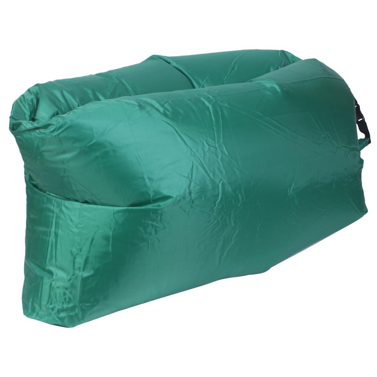 Диван надувной «Long» 220x70 см цвет зеленый