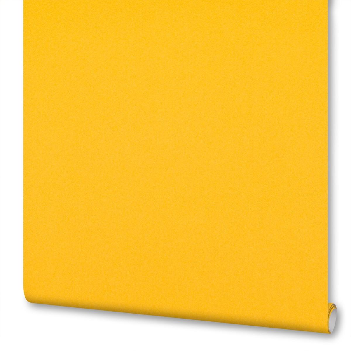 Обои флизелиновые Inspire с эффектом окрашенных стен желтые 0.53х10 м