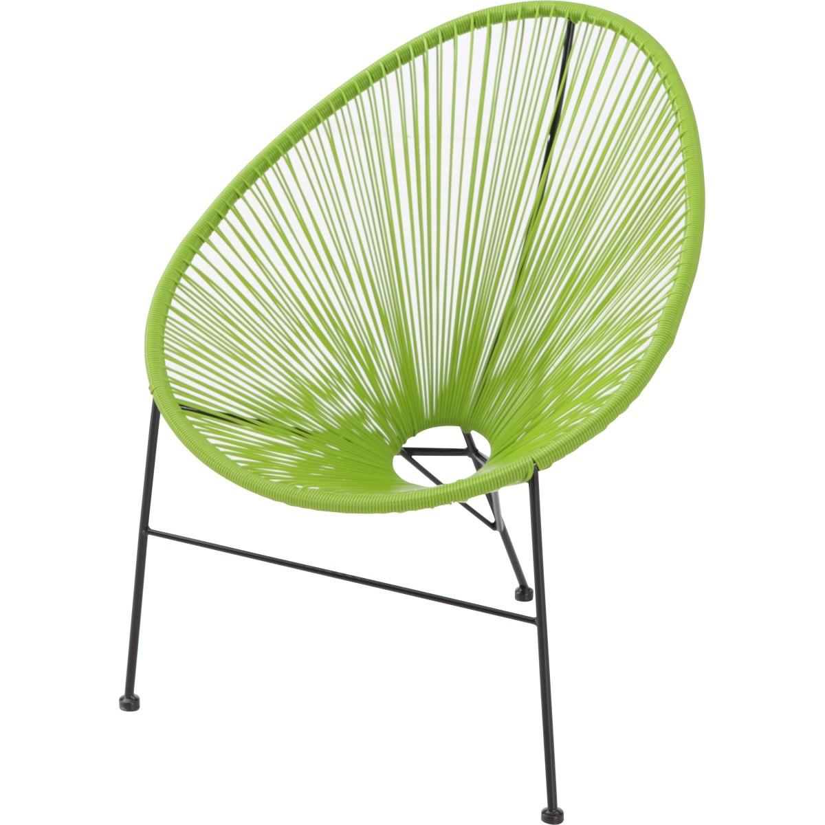 Стул садовый плетеный Acapulco 900x870x720 мм цвет зеленый