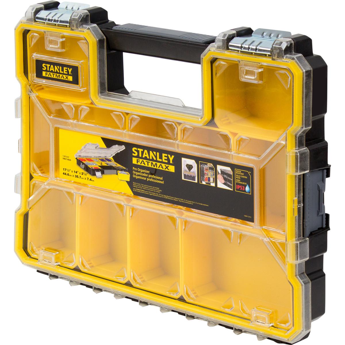 Органайзер Fatmax Shallow Pro Metal Latch влагозащищенный 446х357х74 мм 10 ящиков пластик/металл