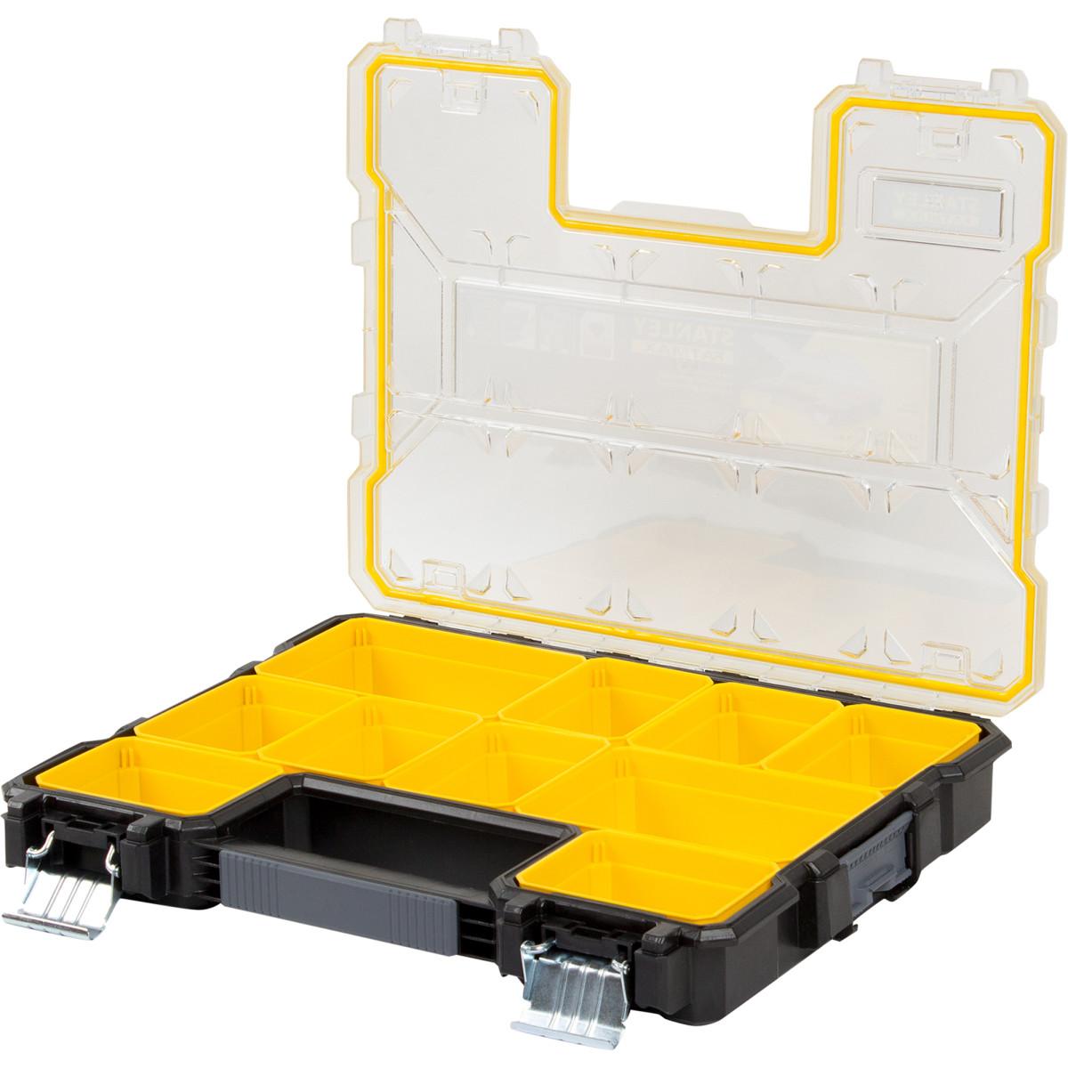 Органайзер Fatmax Shallow Pro Metal Latch Влагозащищенный 446Х357Х74 10 Ящиков Пластик/Металл