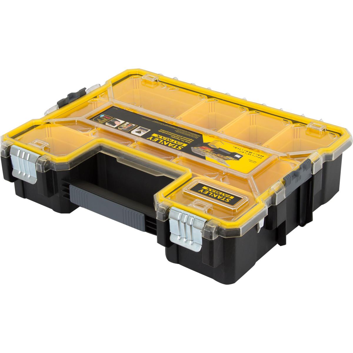 Органайзер Fatmax Deep Pro Metal Latch влагозащищенный 446х357х116 мм 10 ящиков пластик/металл
