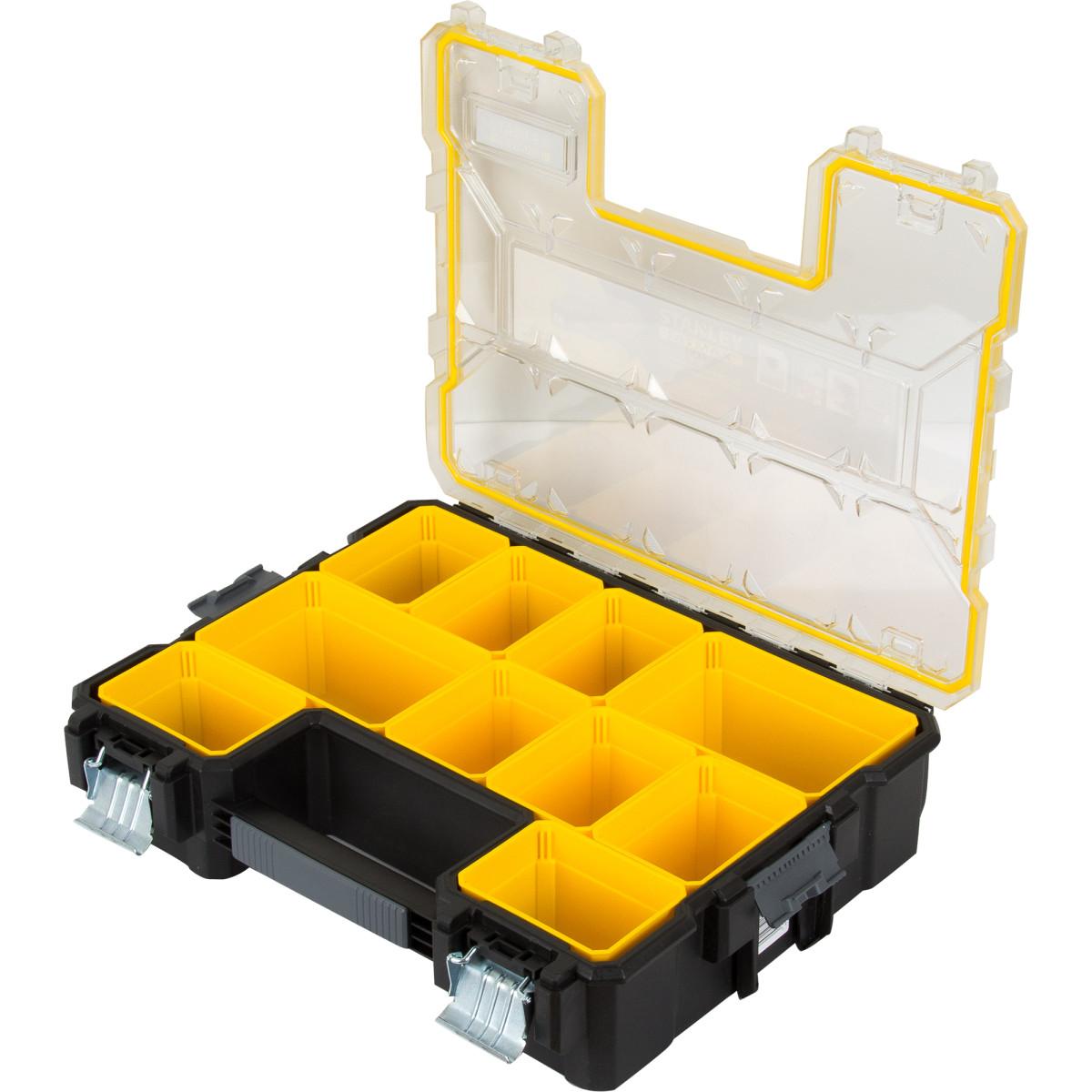 Органайзер Fatmax Deep Pro Metal Latch Влагозащищенный 446Х357Х116 10 Ящиков Пластик/Металл