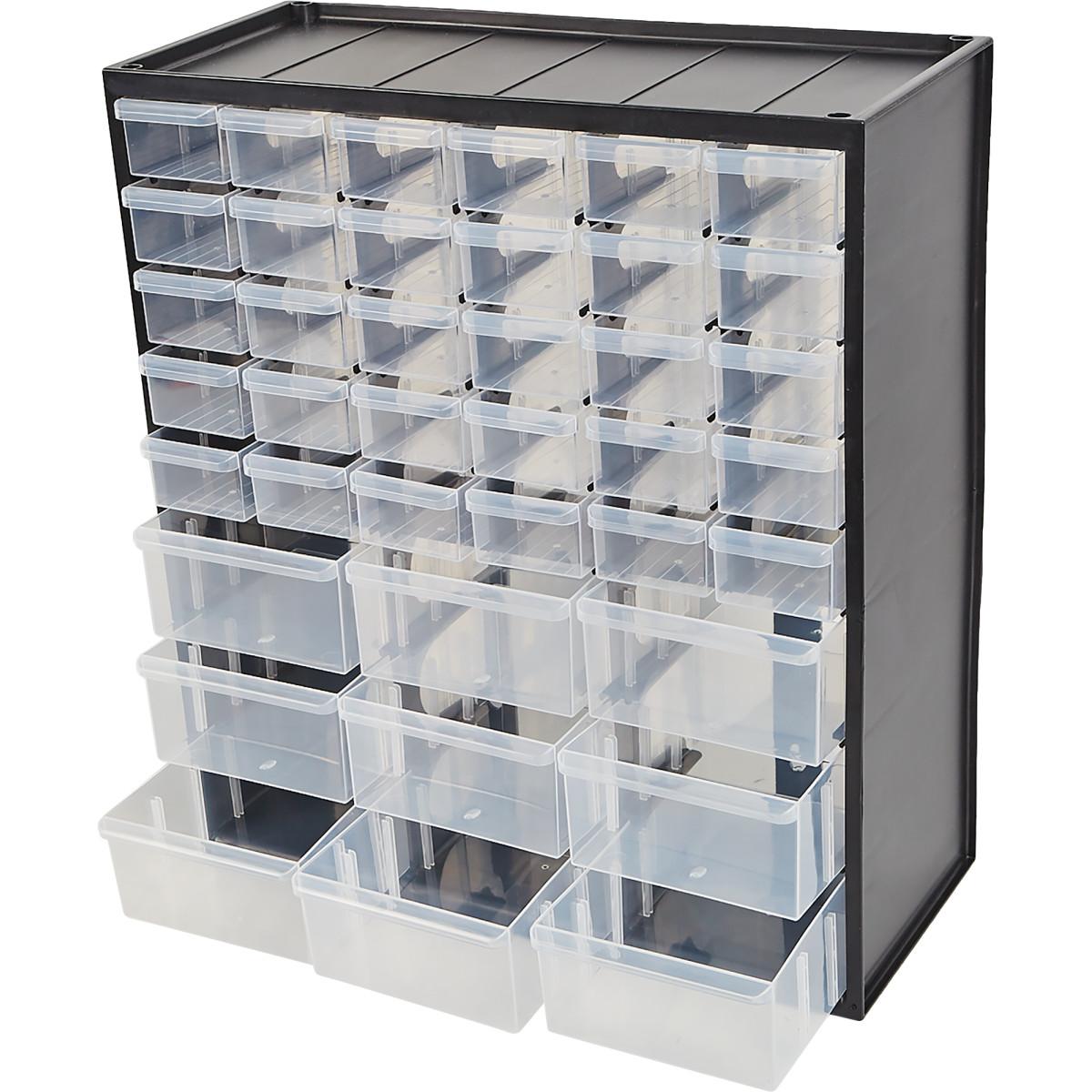 Органайзер Stanley 375Х470Х173 39 Ящиков Пластик Цвет Черный/Прозрачный