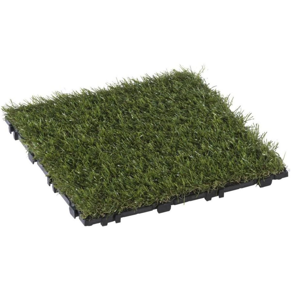 Плитка садовая Искусственная трава 30х30х2.5 см комплект 8 шт.