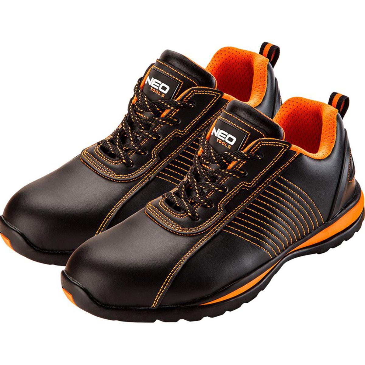 Кроссовки рабочие Neo р-р 43 черно-оранжевые SB стальной подносок