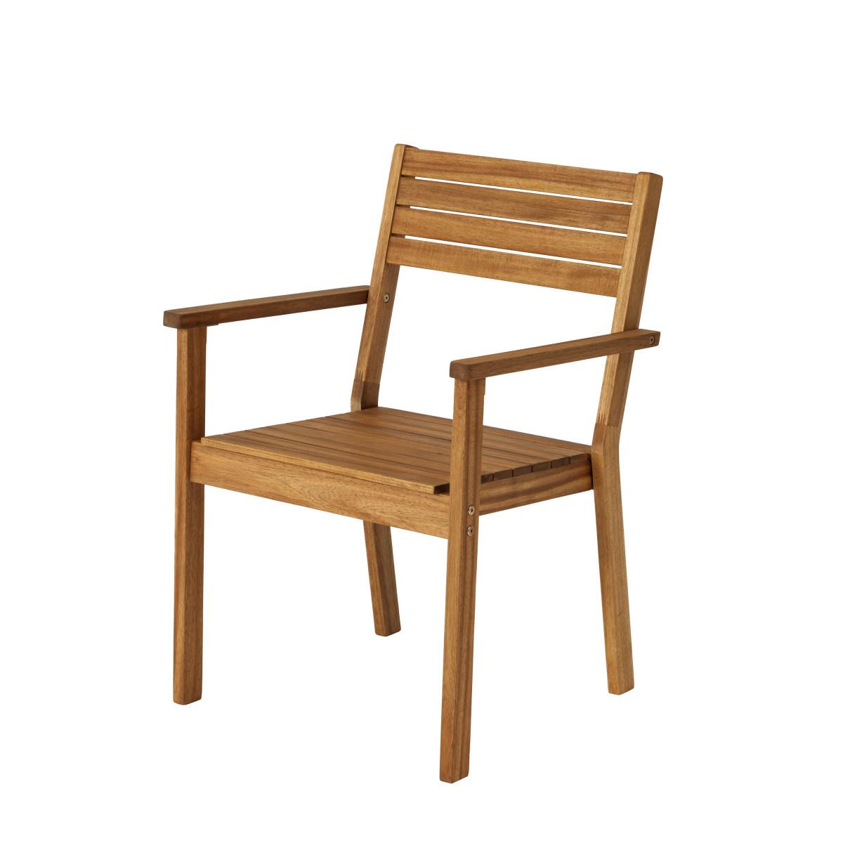 Кресло Porto штабелируемое дерево (акация)