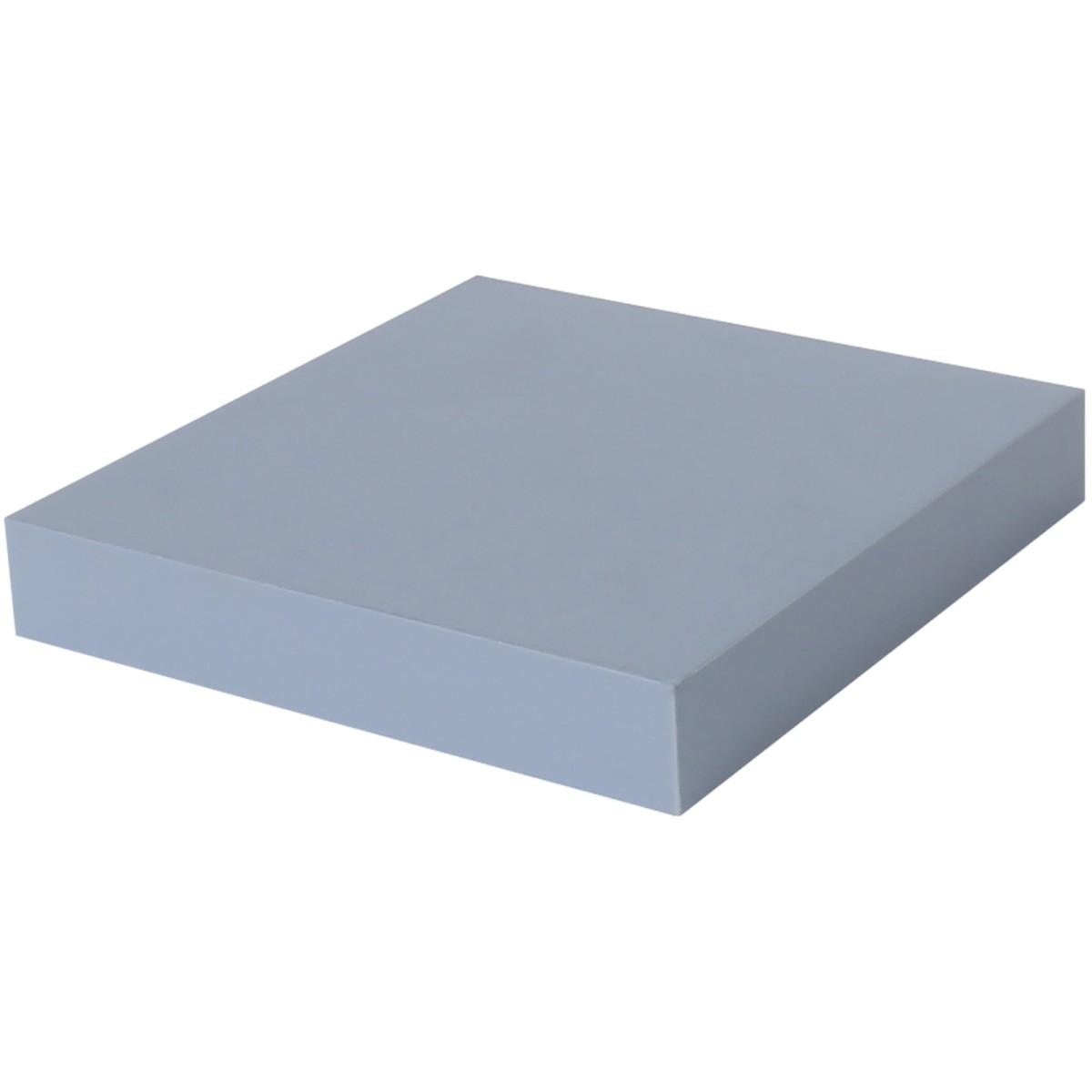 Полка мебельная прямая 230x230x38 мм МДФ цвет голубой
