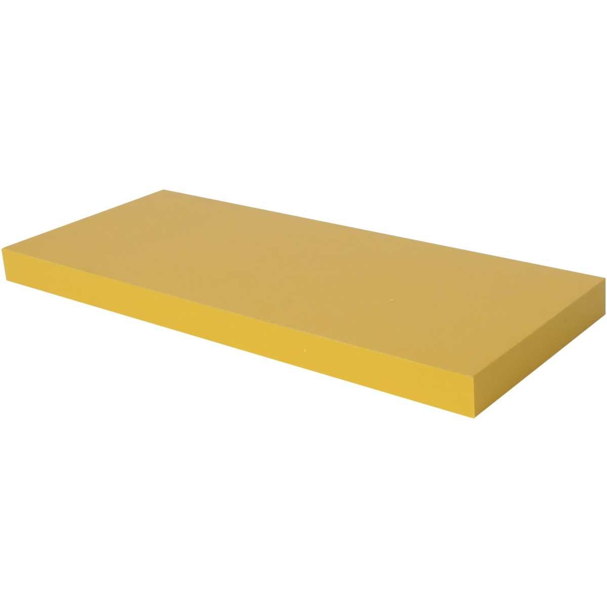 Полка мебельная прямая 600x230x38 мм МДФ цвет жёлтый