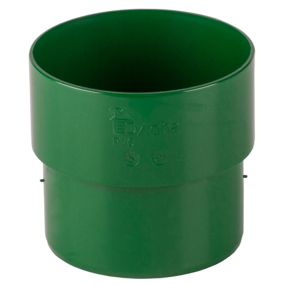 Соединитель желоба Dacha 80 мм зеленый