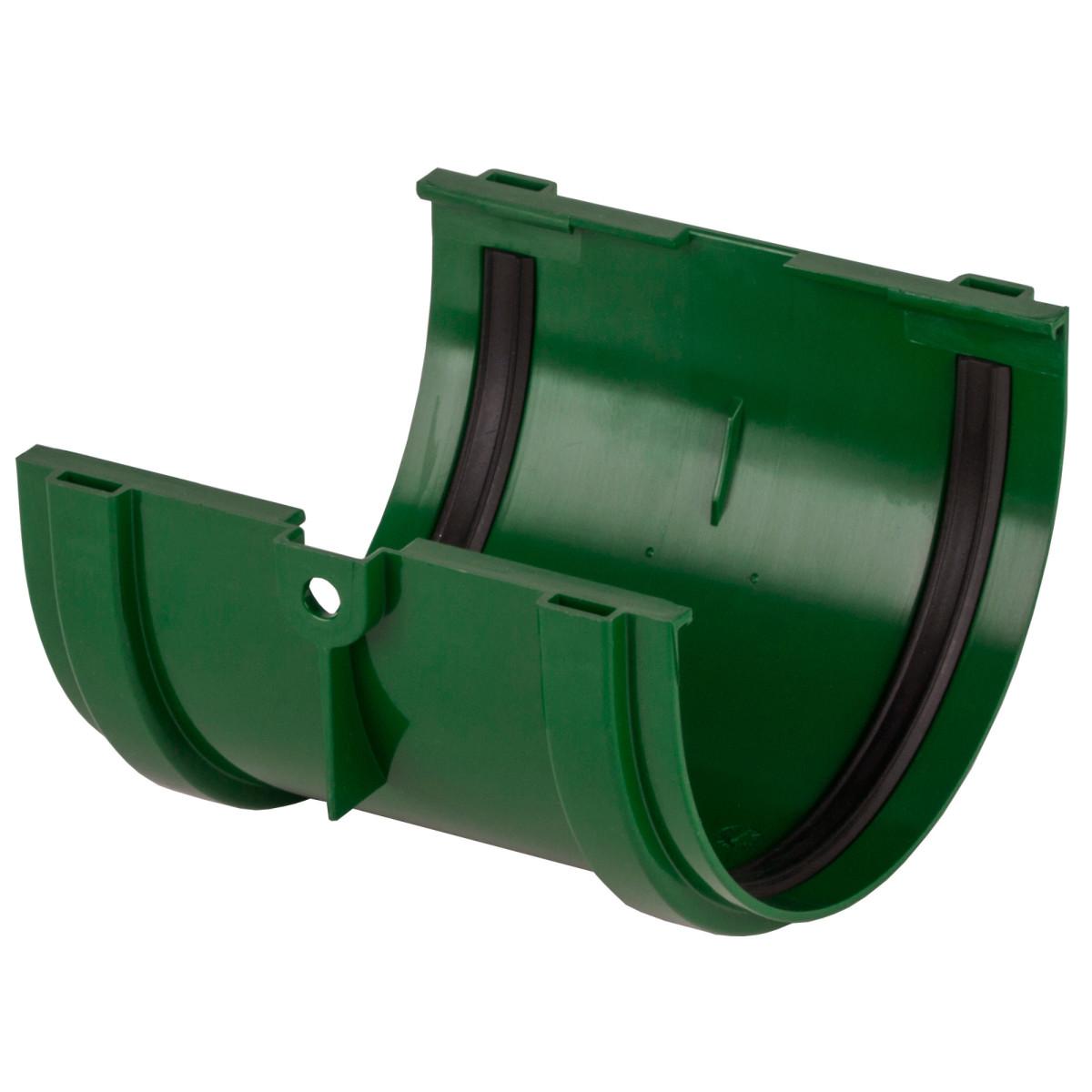 Соединитель желобов Dacha 120 мм зеленый