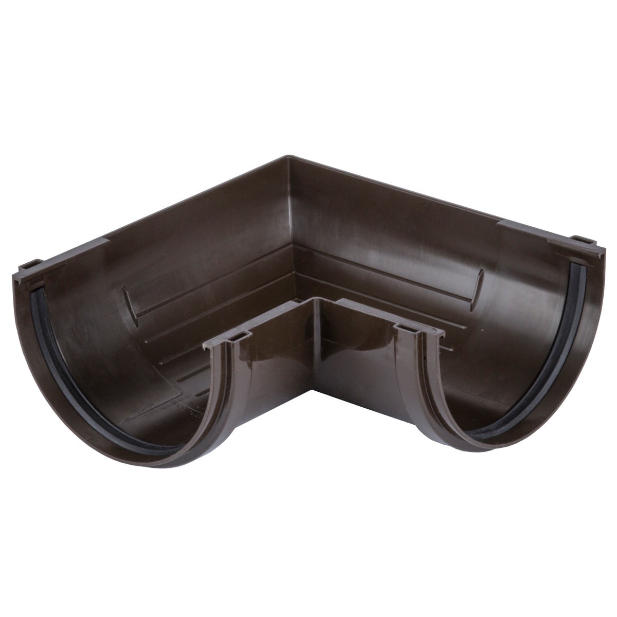 Угол желоба Dacha 120 мм 90 градусов коричневый