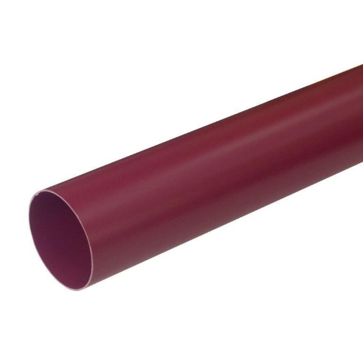 Труба водосточная 80х2000 мм цвет красный