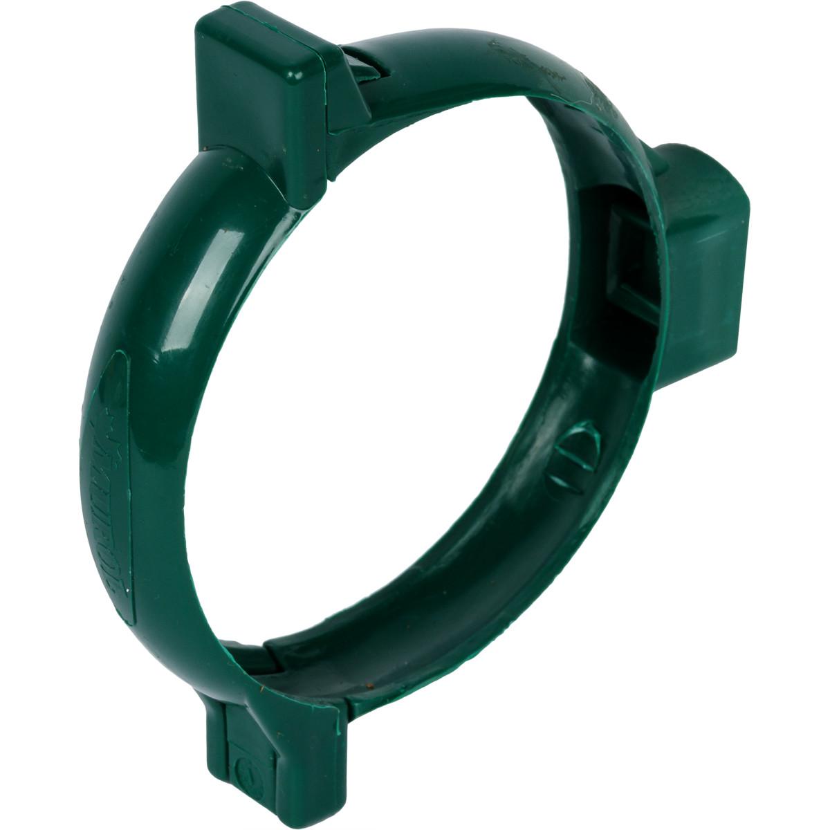 Хомут для водосточной трубы 80 мм цвет зелёный