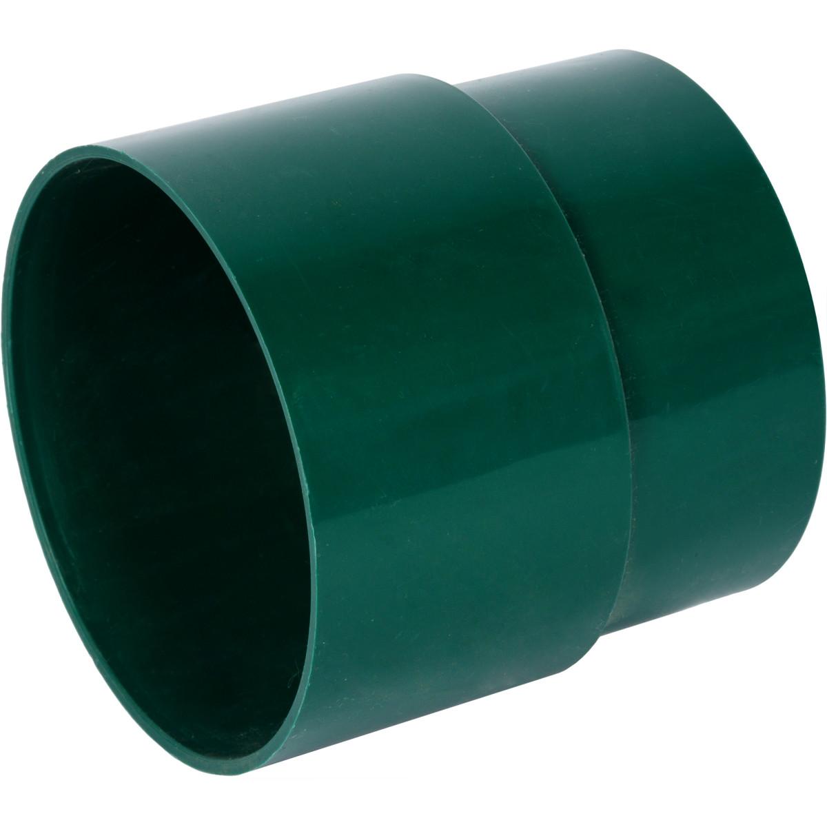 Муфта для водосточной трубы 80 мм цвет зеленый