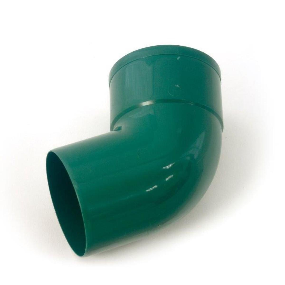Отвод водосточной трубы 67/80 цвет зеленый