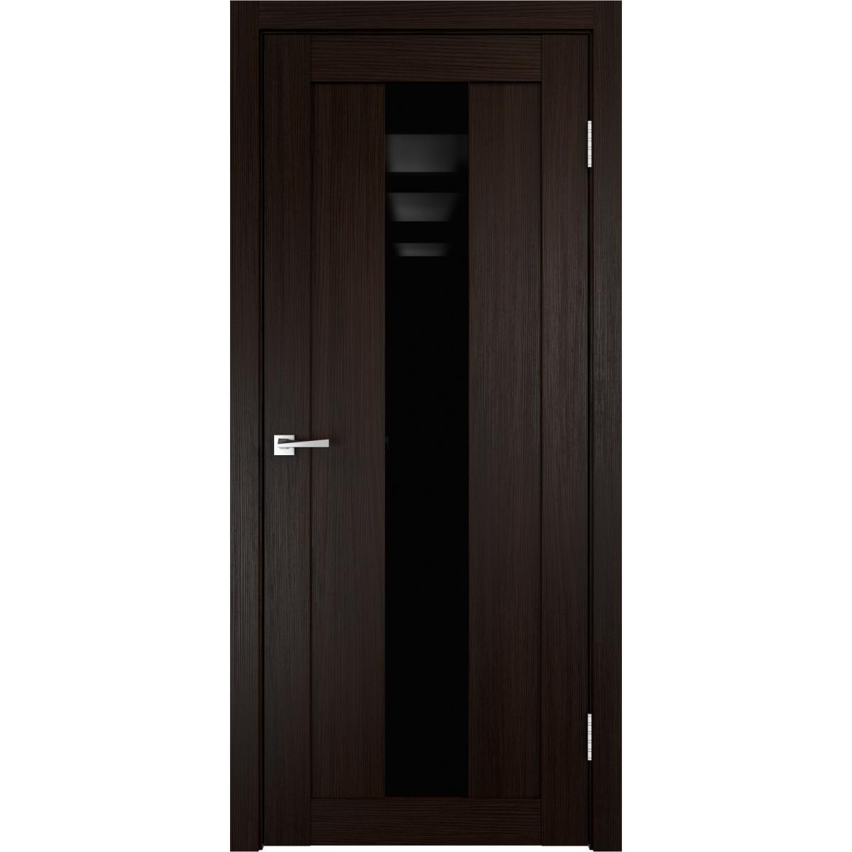 Дверь межкомнатная остеклённая Фортуна 60x200 см ПВХ цвет венге