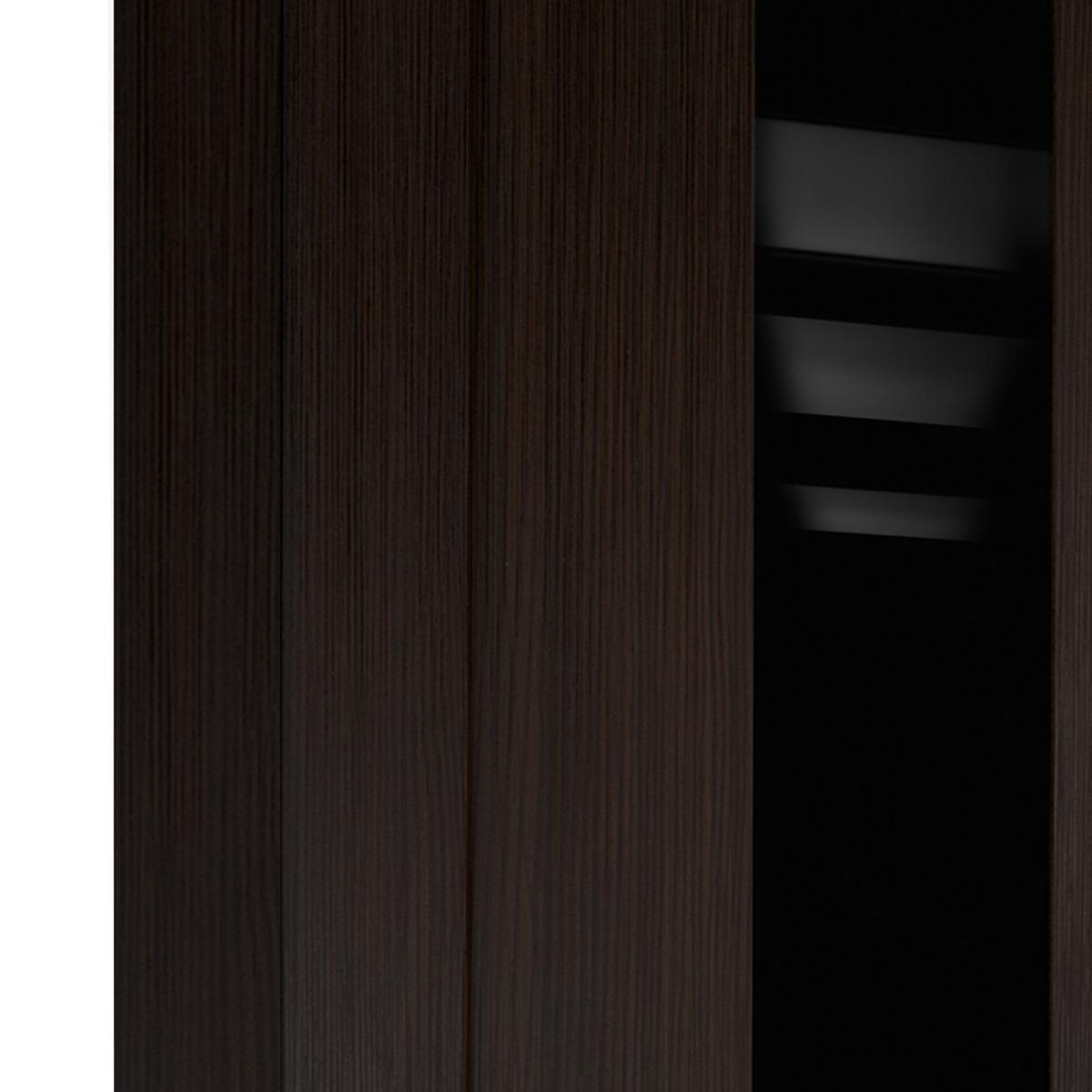 Дверь Межкомнатная Остеклённая Фортуна 70x200 Пвх Цвет Венге