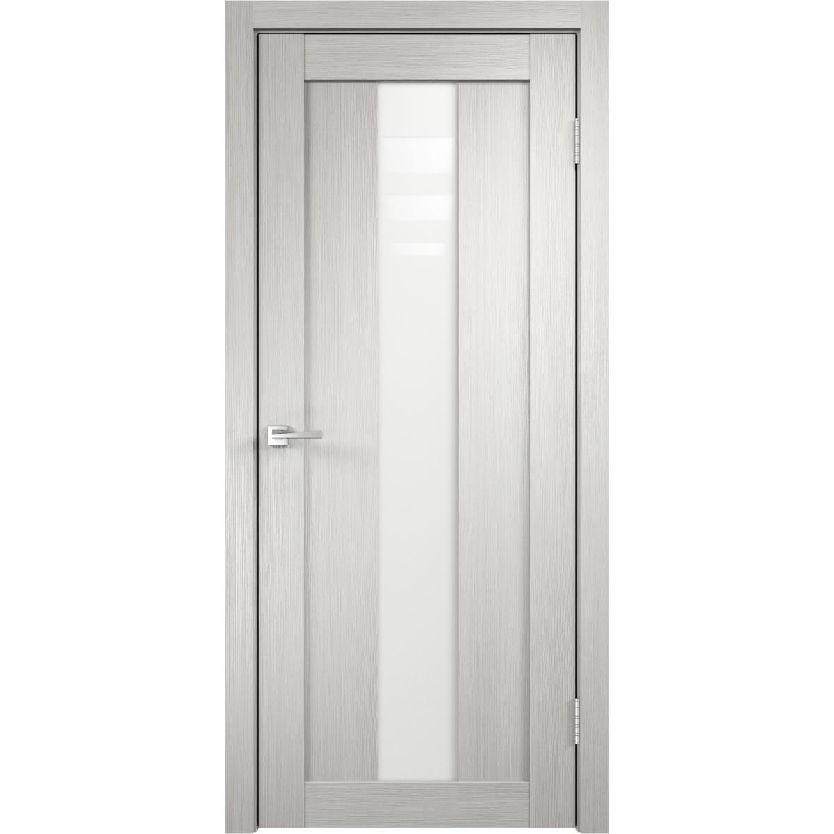 Дверь межкомнатная остеклённая Фортуна 70x200 см ПВХ цвет белый дуб