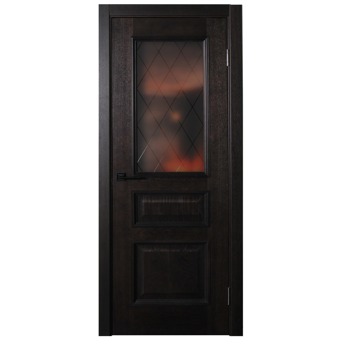 Дверь Межкомнатная Остеклённая Шпон Вельми 70x200 Цвет Венге