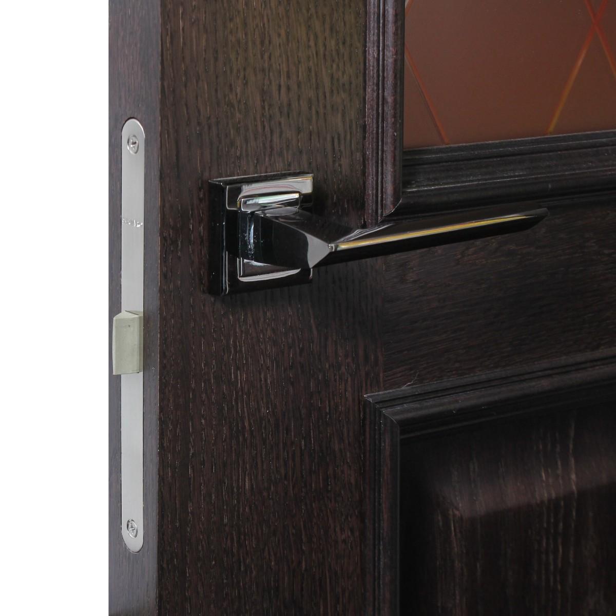 Дверь Межкомнатная Остеклённая Шпон Вельми 80x200 Цвет Венге