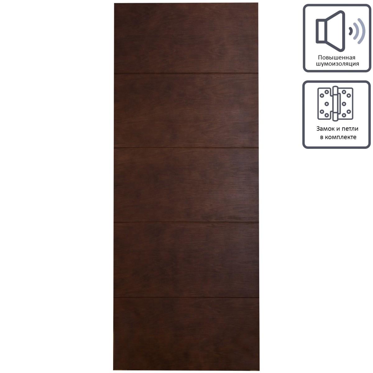 Дверь межкомнатная глухая шпон Антик 60x200 см цвет дуб антик