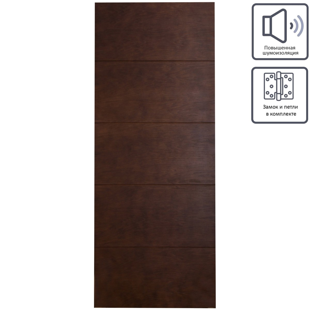 Дверь межкомнатная глухая шпон Антик 80x200 см цвет дуб антик
