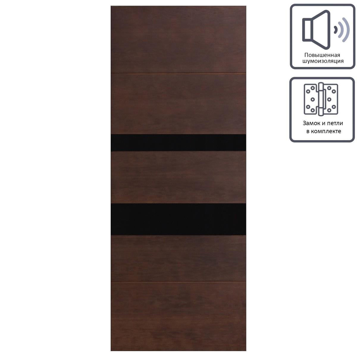 Дверь межкомнатная остеклённая шпон Модерн 90x200 см цвет антик