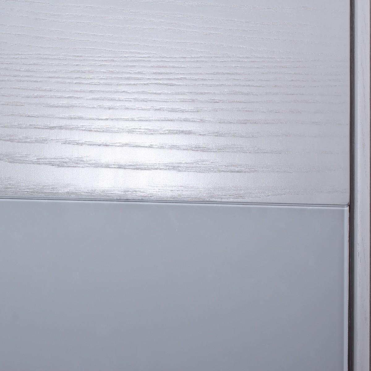 Дверь Межкомнатная Глухая Шпон Модерн 80x200 Цвет Белый Ясень