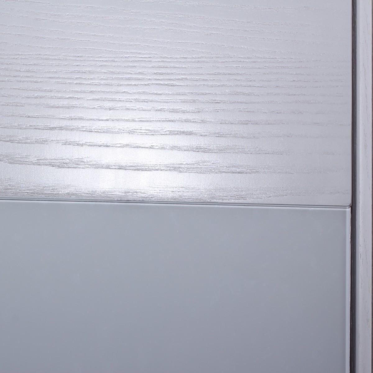 Дверь Межкомнатная Глухая Шпон Модерн 90x200 Цвет Белый Ясень