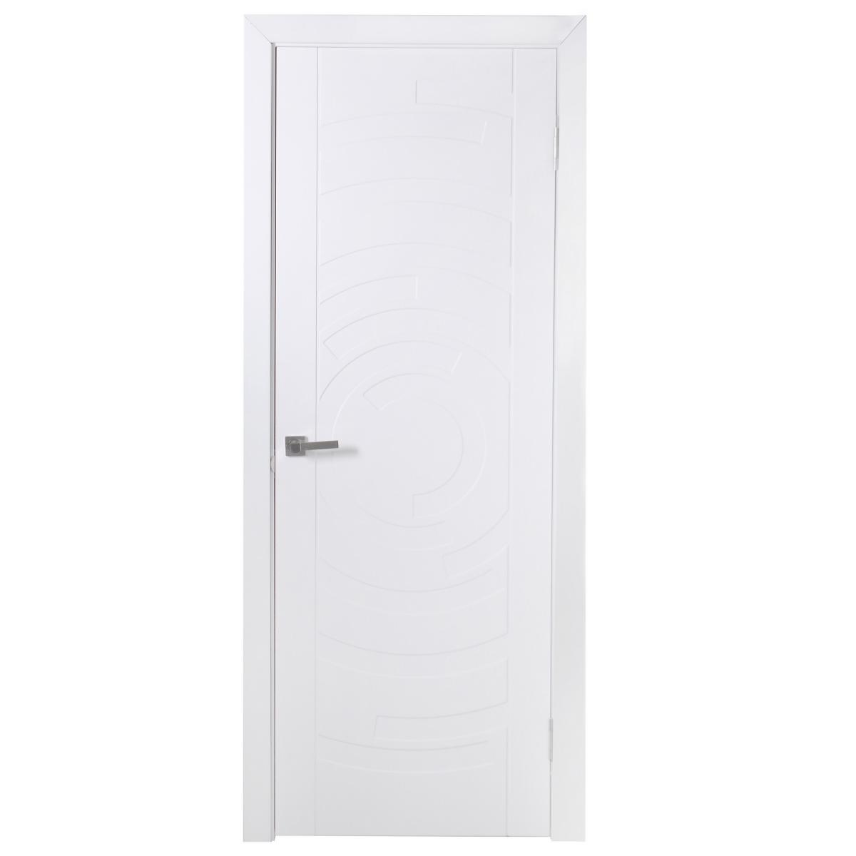 Дверь межкомнатная глухая Галактика 90x200 см цвет белый