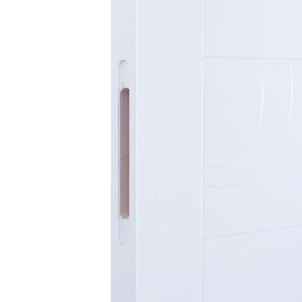 Дверь Межкомнатная Глухая Аликанте 90x200 Цвет Белый