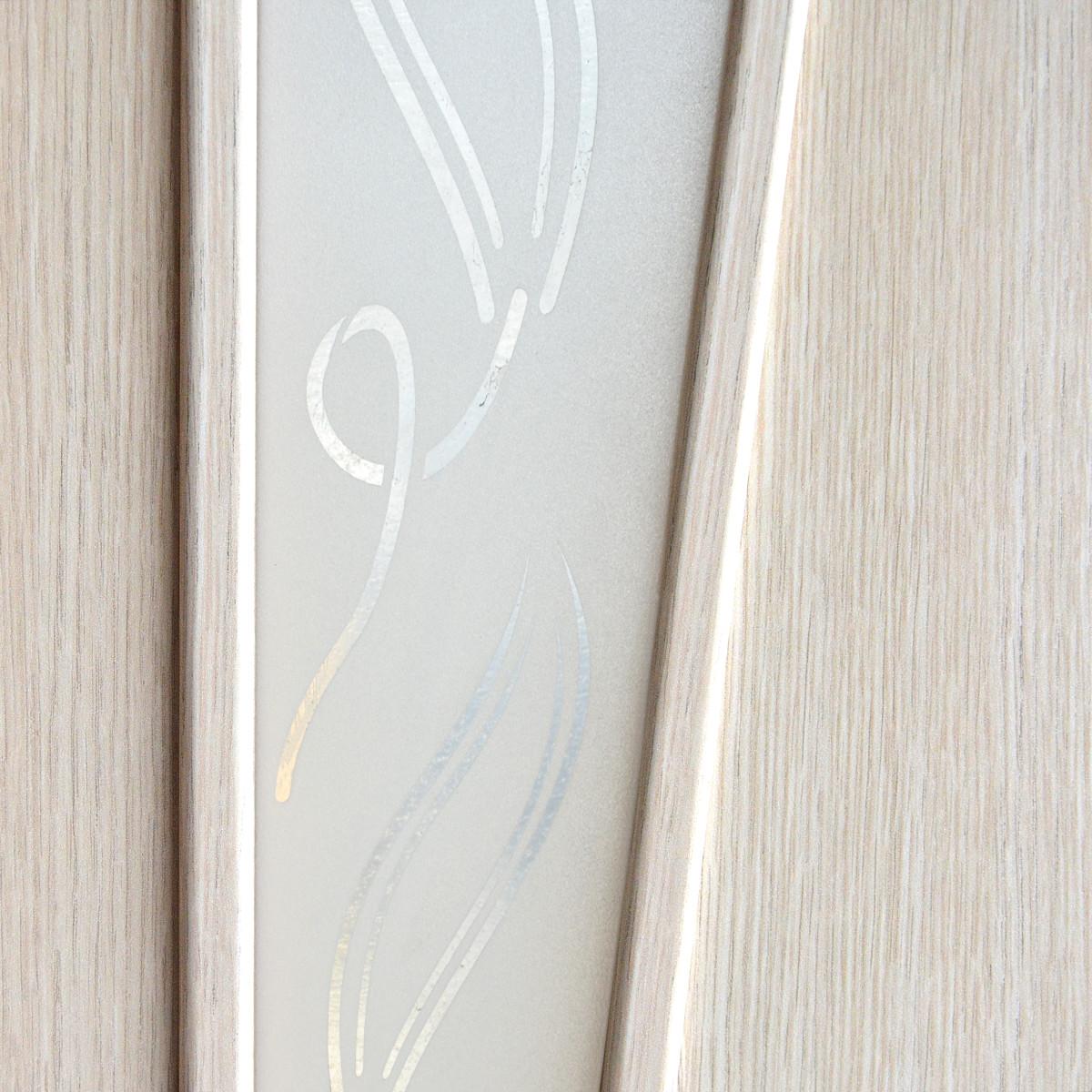 Дверь Межкомнатная Остеклённая Ламинированная Белеза 90x200 Цвет Белый Дуб
