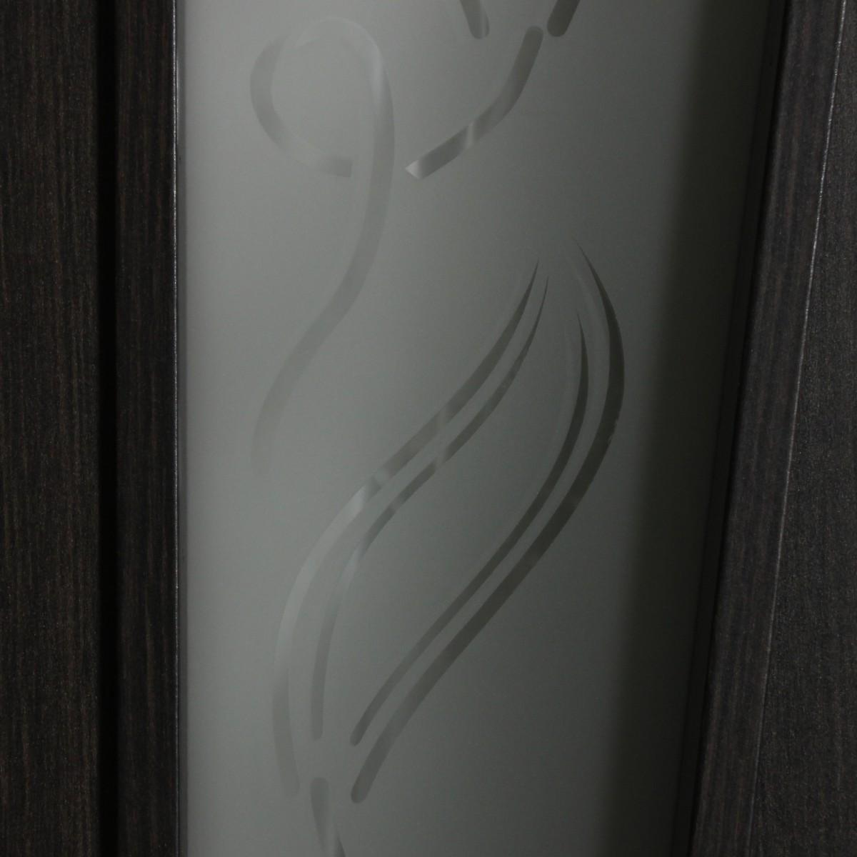Дверь Межкомнатная Остеклённая Ламинированная Белеза 60x200 Цвет Венге