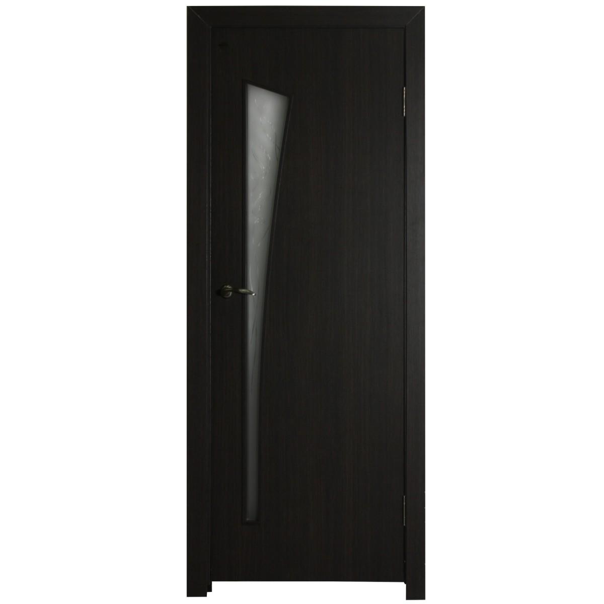 Дверь межкомнатная остеклённая ламинированная Белеза 80x200 см цвет венге