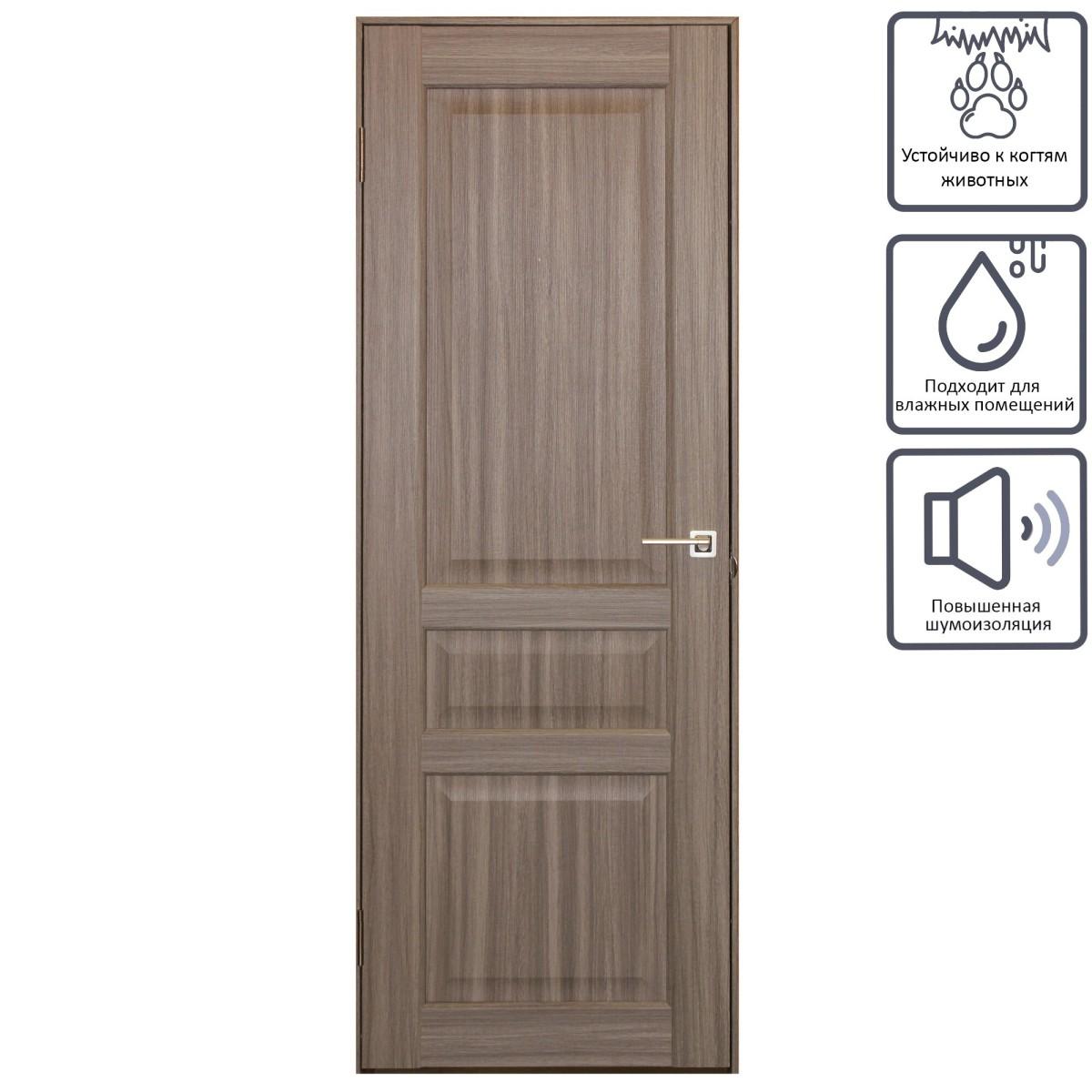 Дверь межкомнатная глухая Artens Мария 90x200 см цвет серый дуб