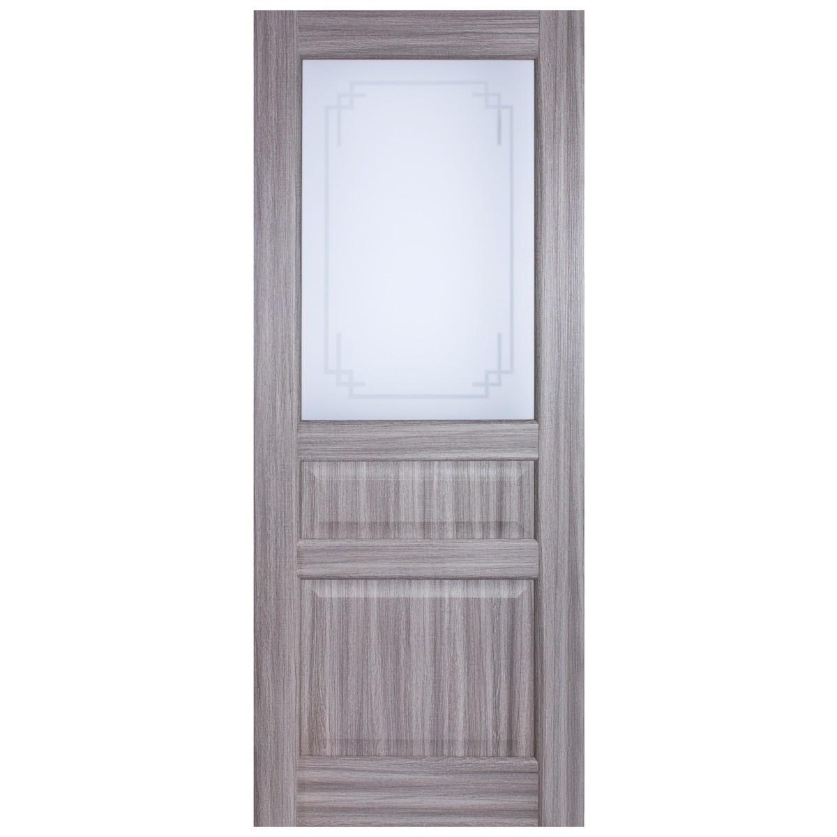 Дверь Межкомнатная Остеклённая Artens Мария 90x200 Цвет Серый Дуб