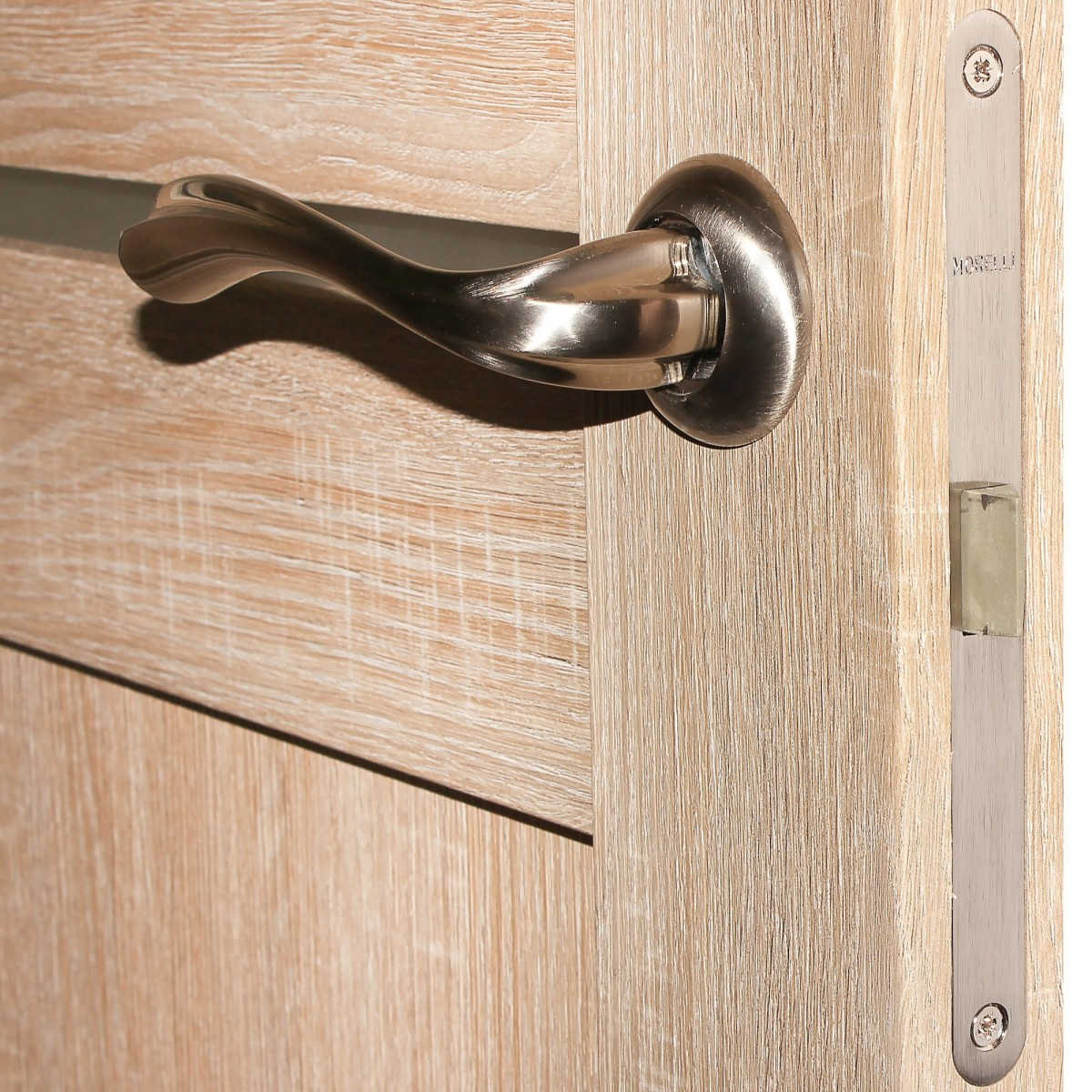 Дверь Межкомнатная Остеклённая Artens Леона 70x200 Цвет Натуральный Дуб