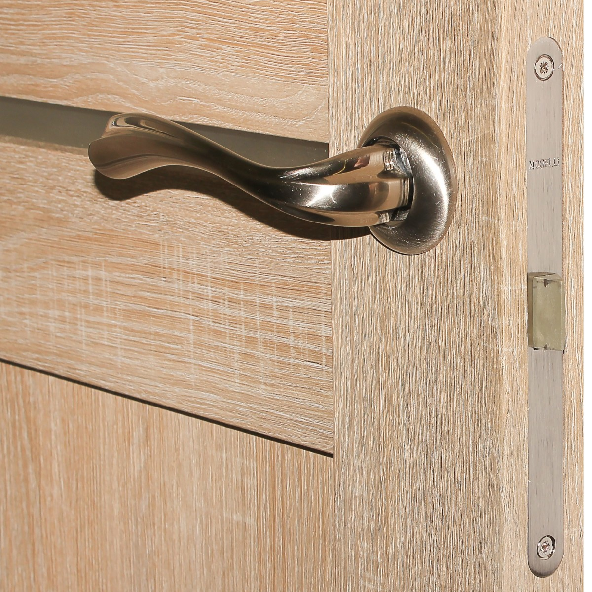 Дверь Межкомнатная Остеклённая Artens Леона 80x200 Цвет Натуральный Дуб